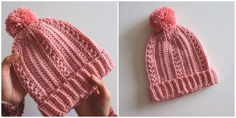 Crochet Easy Romantic Beanie / Free Written Pattern