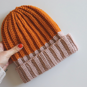Crochet Ribbed Hat / Free Written Pattern