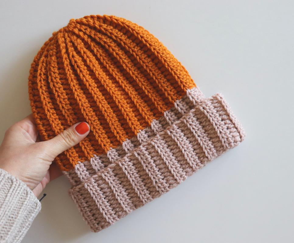 Crochet Ribbed Hat / Free Written Pattern
