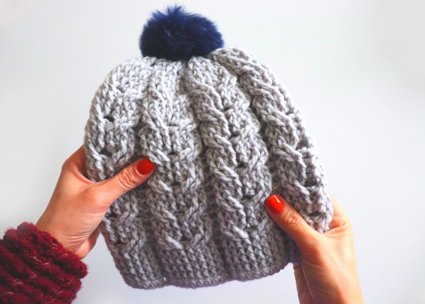 Crochet Cable Hat / Beginner Friendly Tutorial