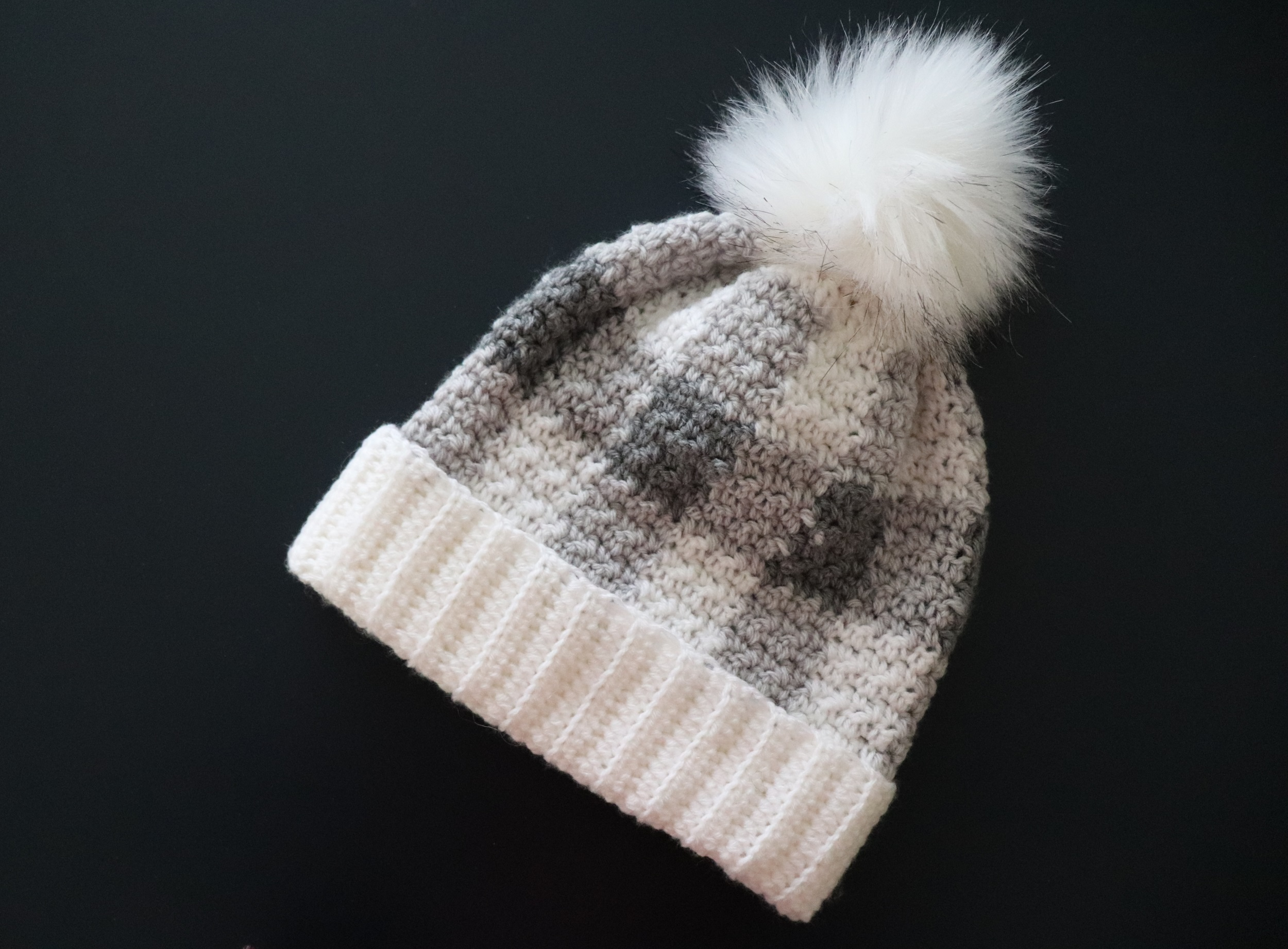 Crochet Plaid Hat With Written Pattern And Video Tutorial