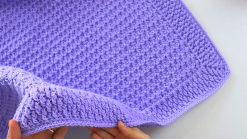 Crochet Simple And Fast Beginner Baby Blanket