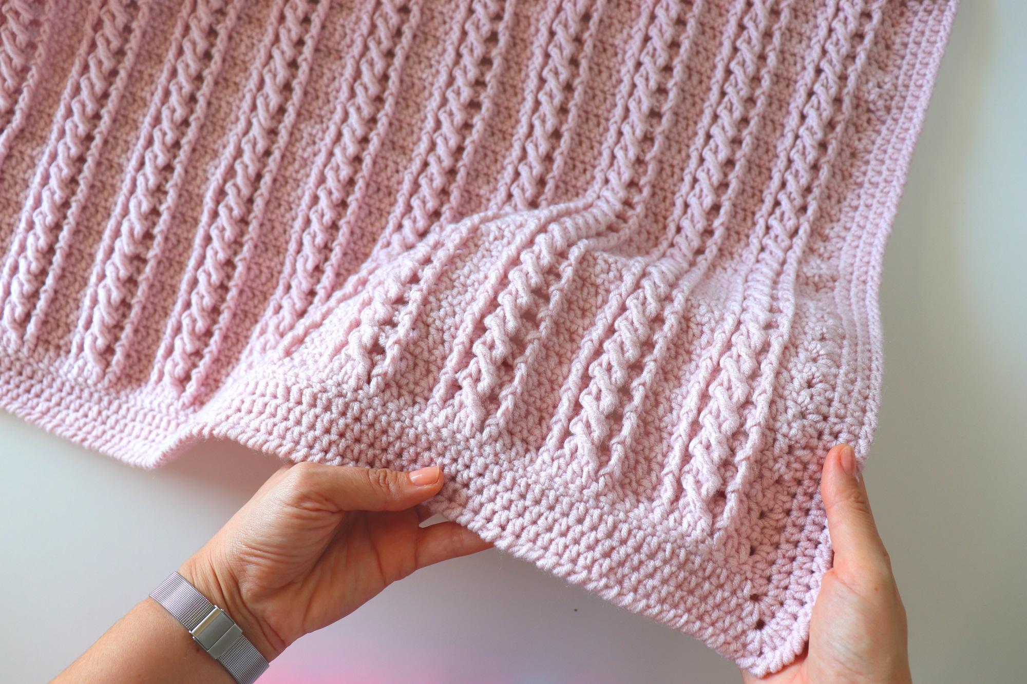 Crochet Easy Beginner Cable Blanket Tutorial With Written Pattern Sirin S Crochet