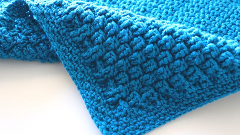 Crochet Blue Baby Blanket / Beginner Friendly Tutorial