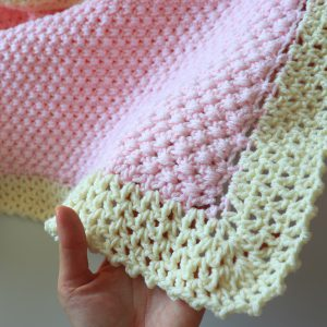 How To Crochet Easiest Beginner Baby Blanket
