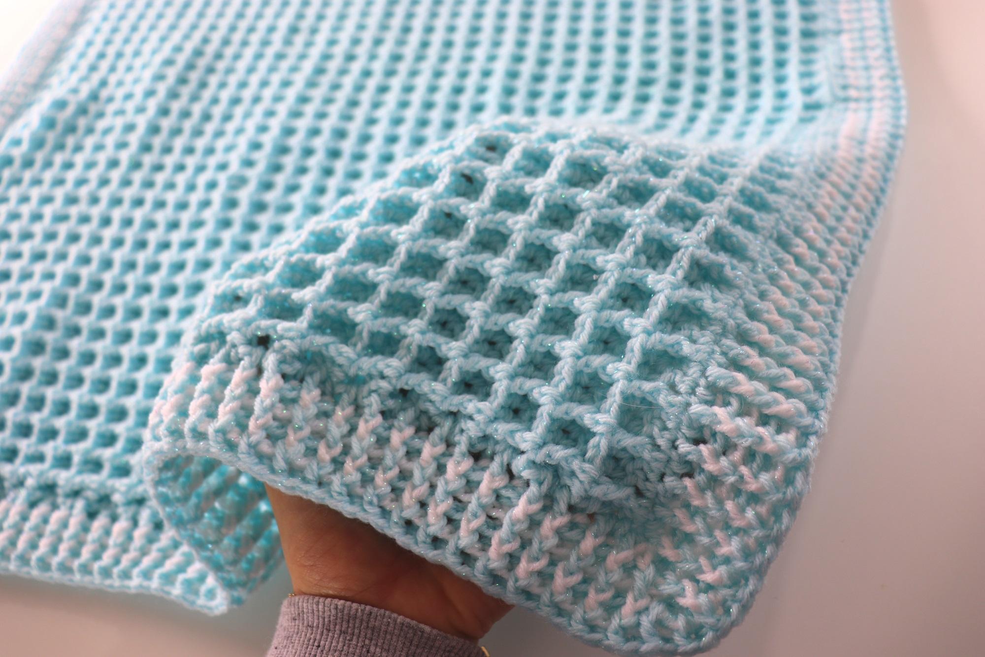 Crochet Easy Waffle Baby Blanket Sirin S Crochet