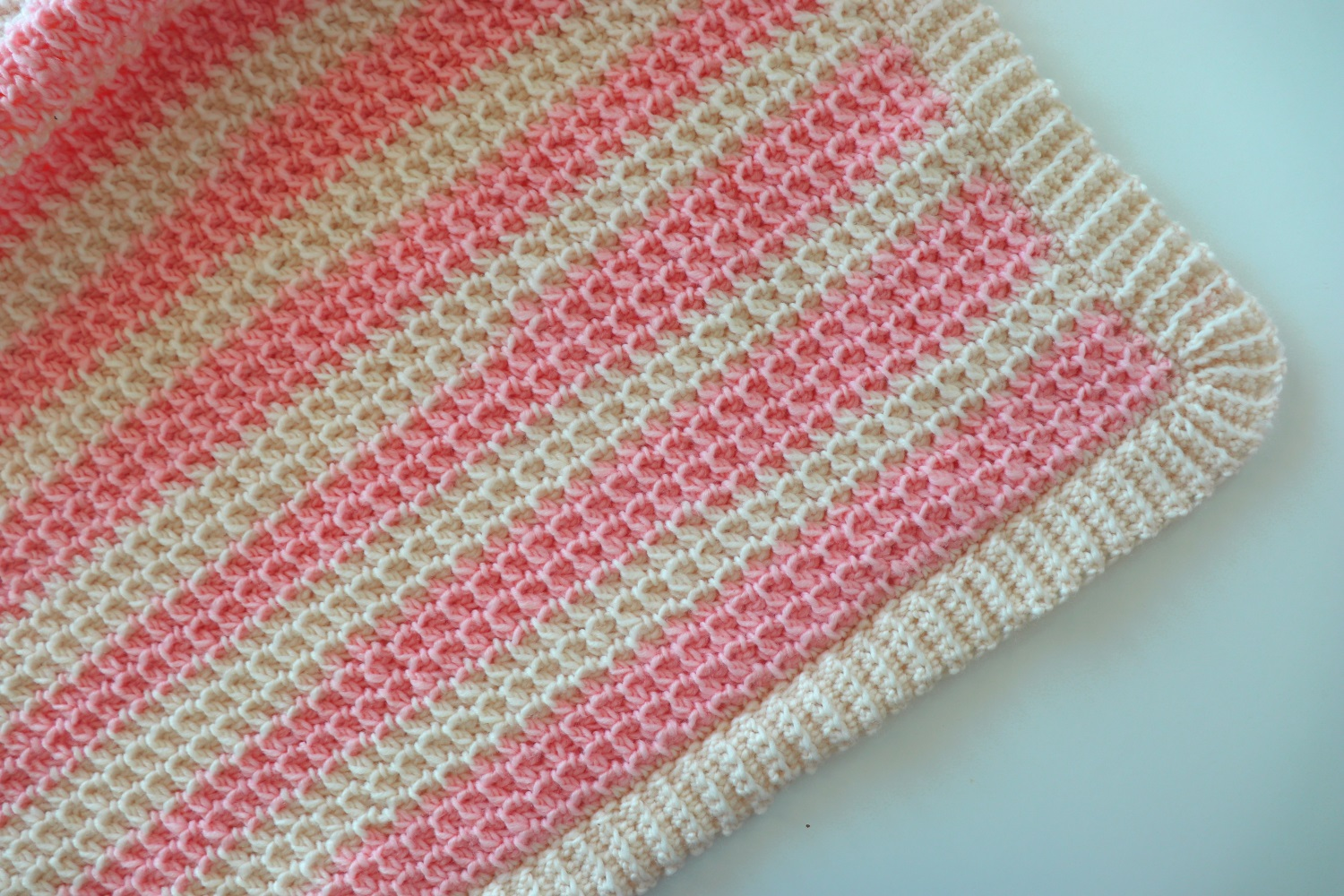 Crochet An Easy Striped Blanket With Written Pattern