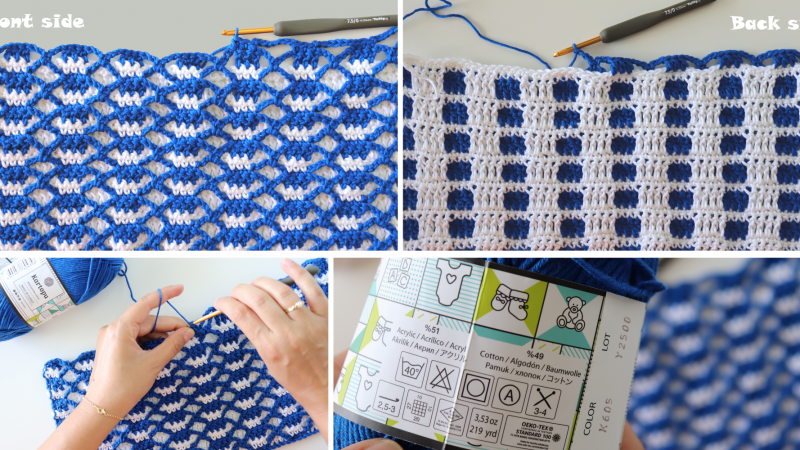 Crochet Double-sided Interlocking Stitch Written Pattern