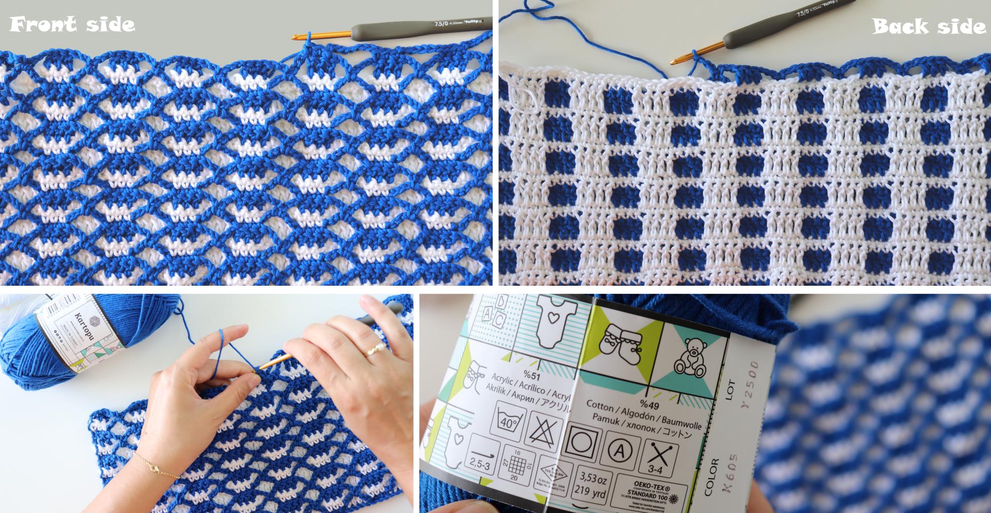 Crochet Double-sided Interlocking Stitch Written Pattern
