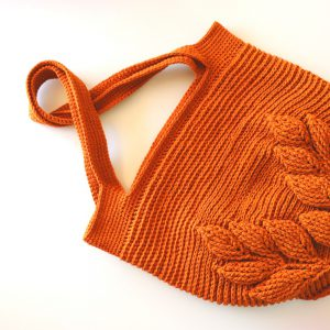 Crochet 3D Leaf Bag Tutorial With Written Pattern