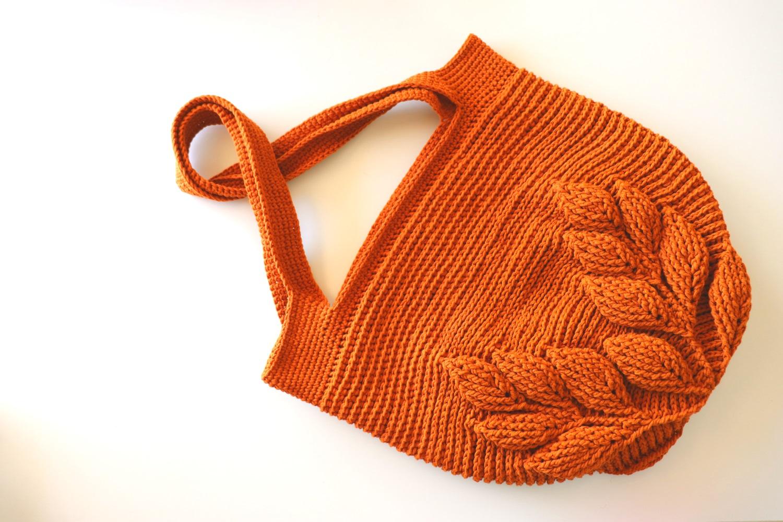 Crochet 3D Leaf Bag Tutorial With Written Pattern