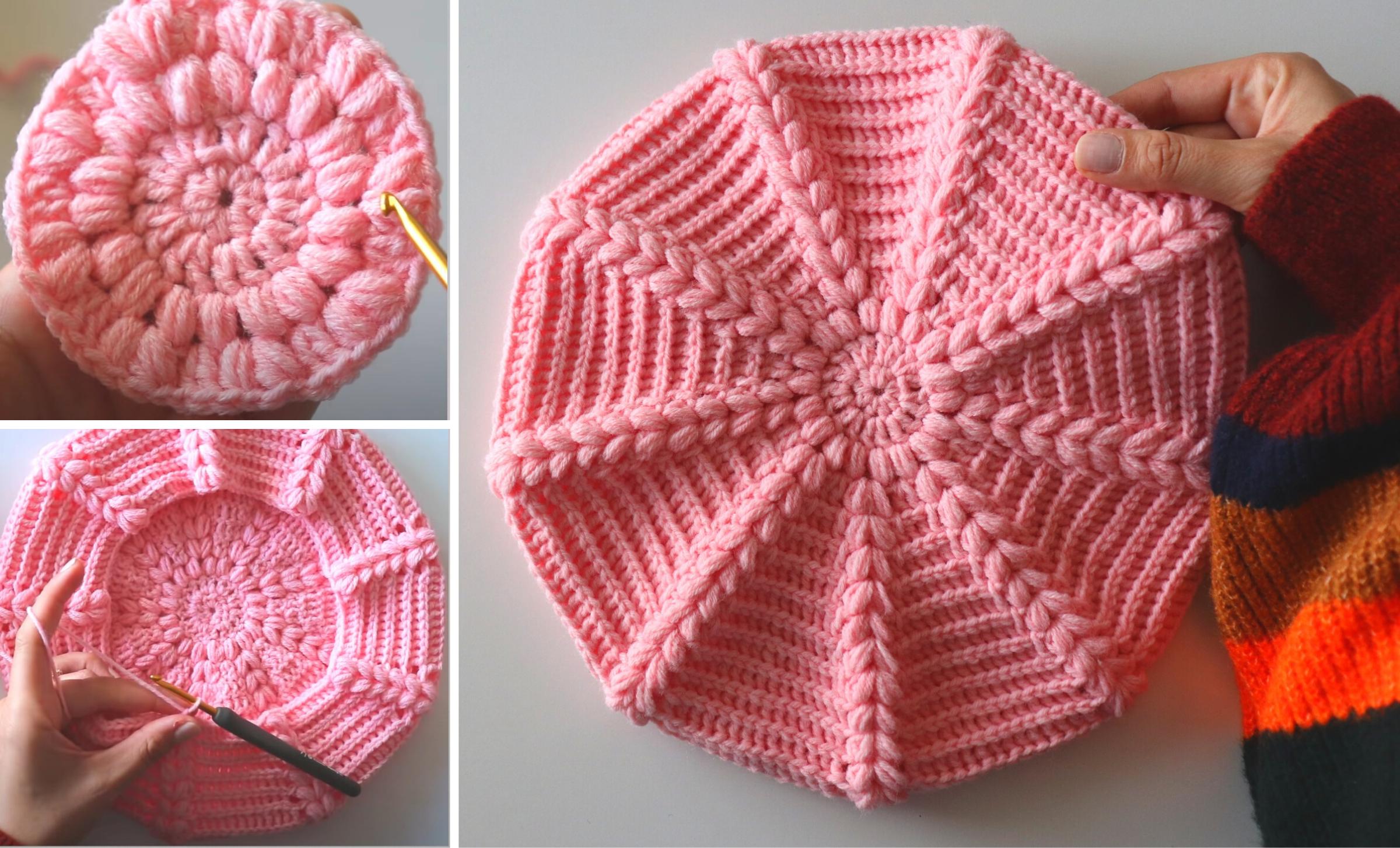 Crochet An Easy Beret Hat With Written Pattern