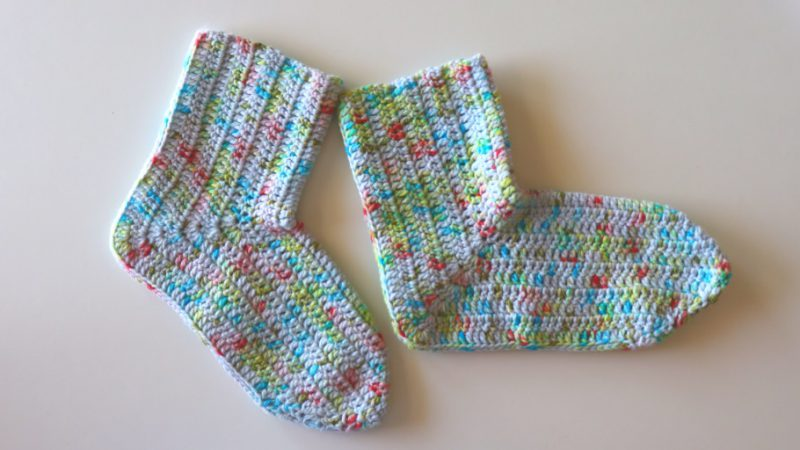 Crochet Beginner Socks With Written Pattern