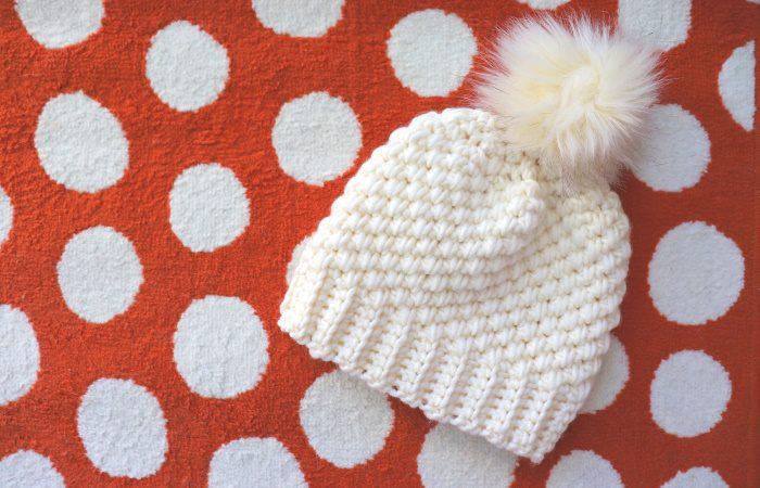 Crochet 1 Hour Chunky Beanie Written Pattern
