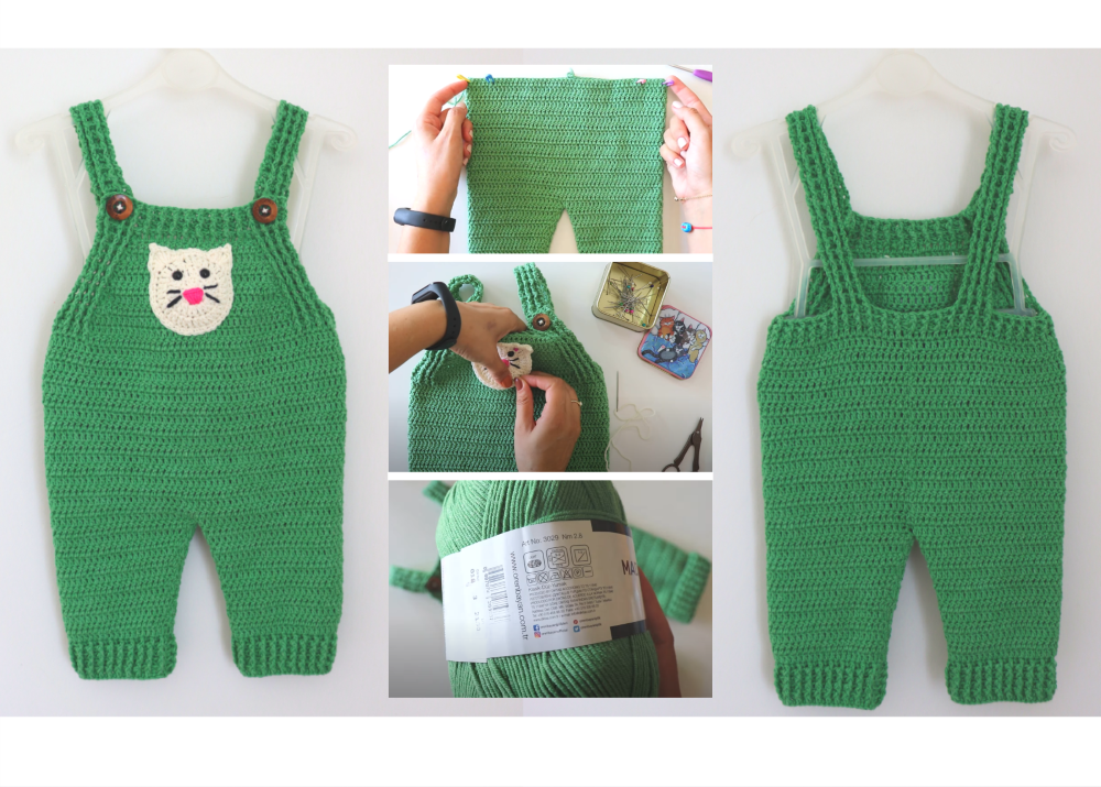 Crochet Baby Overall Written Pattern