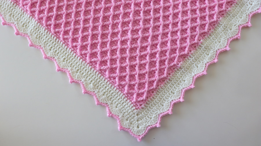 Crochet Elegant Diamond Blanket Written Pattern