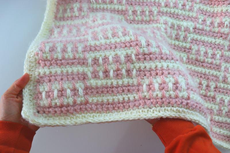 Crochet Interlocking Baby Blanket Written Pattern
