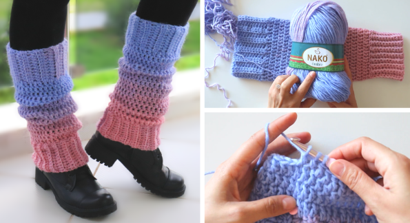 Crochet Cozy Legwarmers / Written Pattern