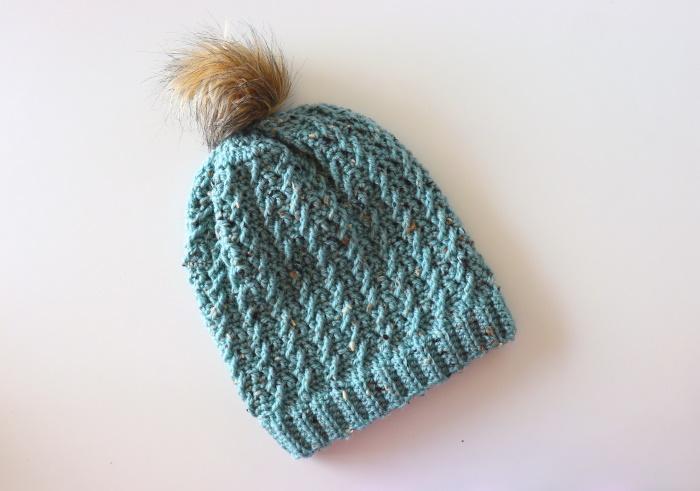 Crochet Easy Twisted Hat With Written Pattern