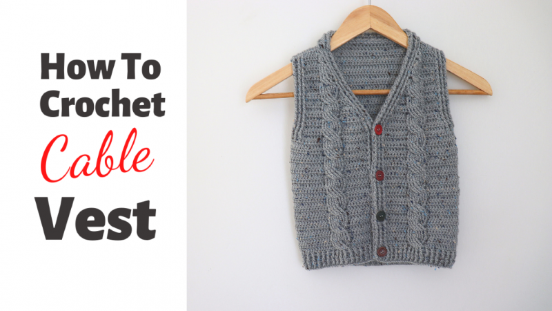 Crochet Easy Cable Sweater Written Pattern