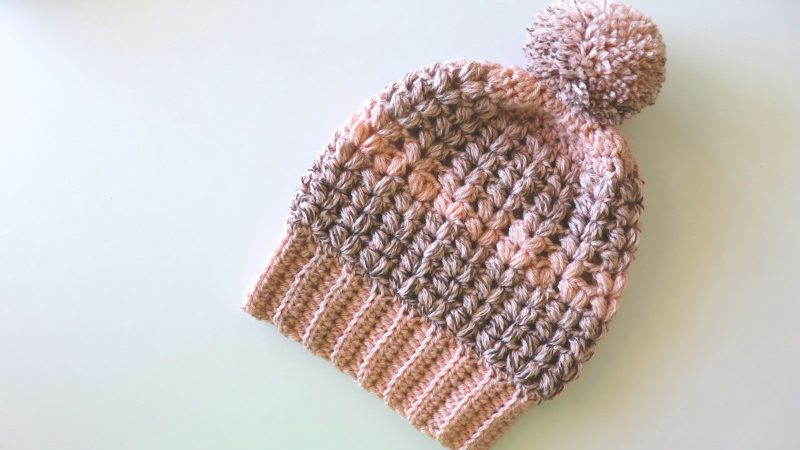 Crochet One Hour Puff Stitch Hat's Written Pattern