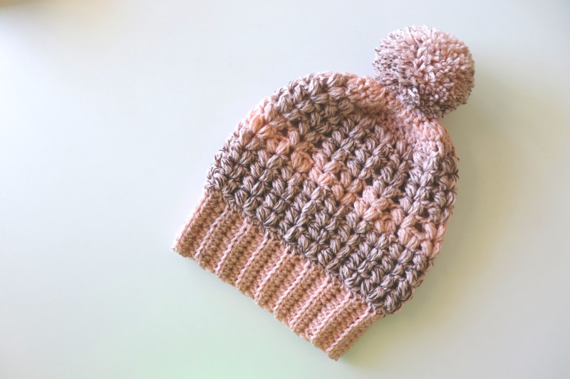 Crochet One Hour Puff Stitch Hat's Written Pattern