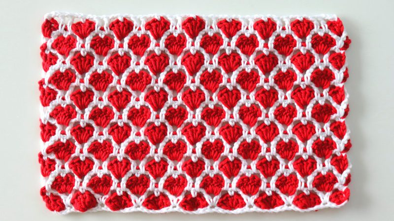 Crochet Cute Hearts Stitch Written Pattern